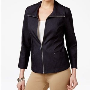 JM Collection 16W Dressy Casual Zip Jacket